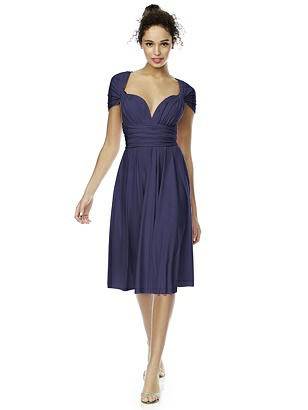 Twist Wrap Dress: Short http://www.dessy.com/dresses/twist-short/
