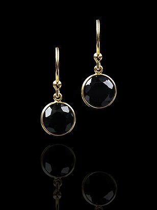 18K Gold Vermeil Solitaire Bezel Drop Earrings-CLOSEOUT http://www.dessy.com/accessories/gold-plated--swarovski-crystal-drop-earrings/