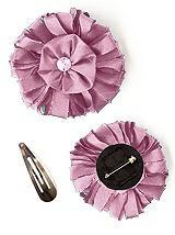 Dupioni Confetti Flower with Rhinestone Detail