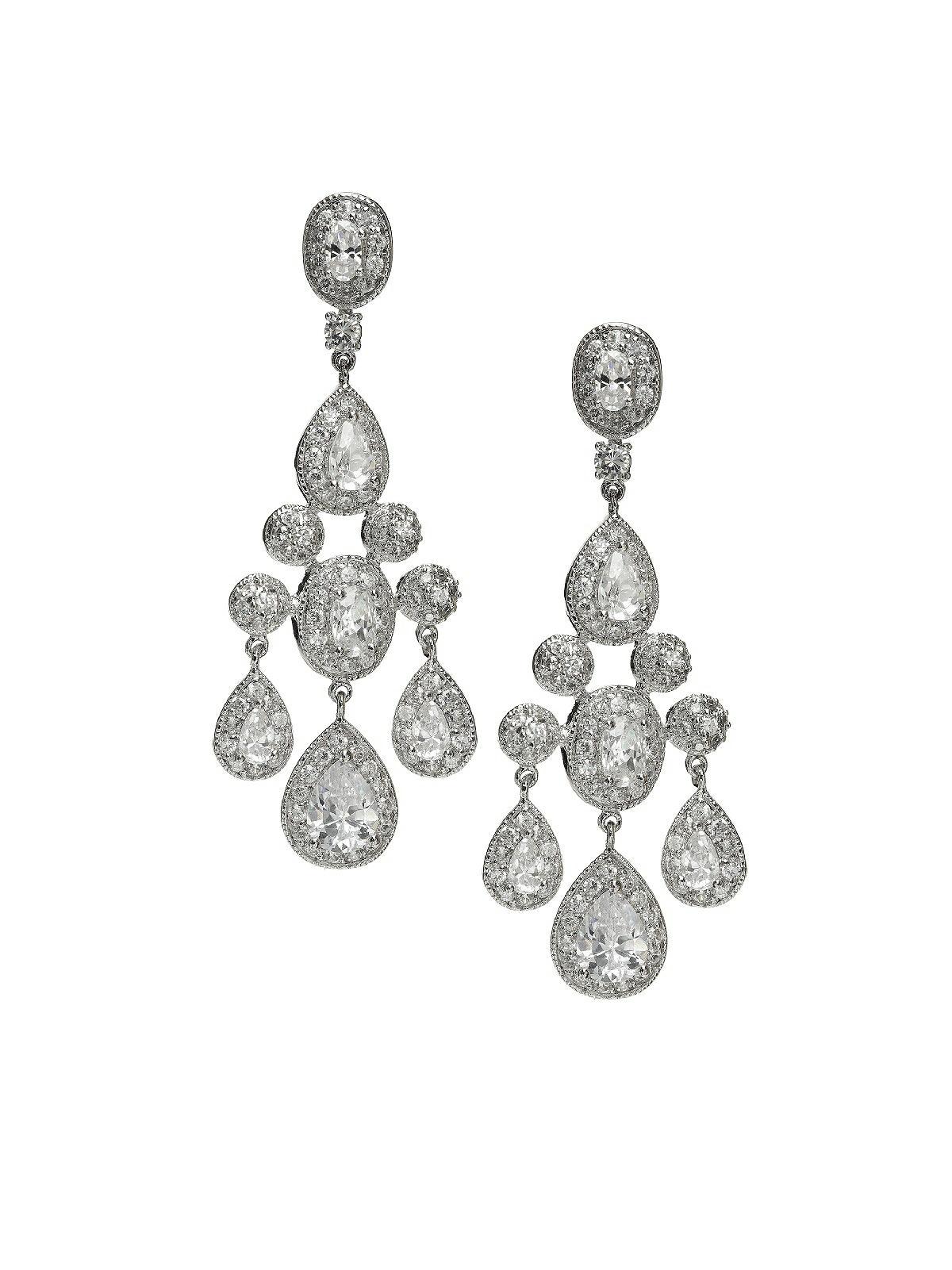 cubit zirconia chandelier earrings
