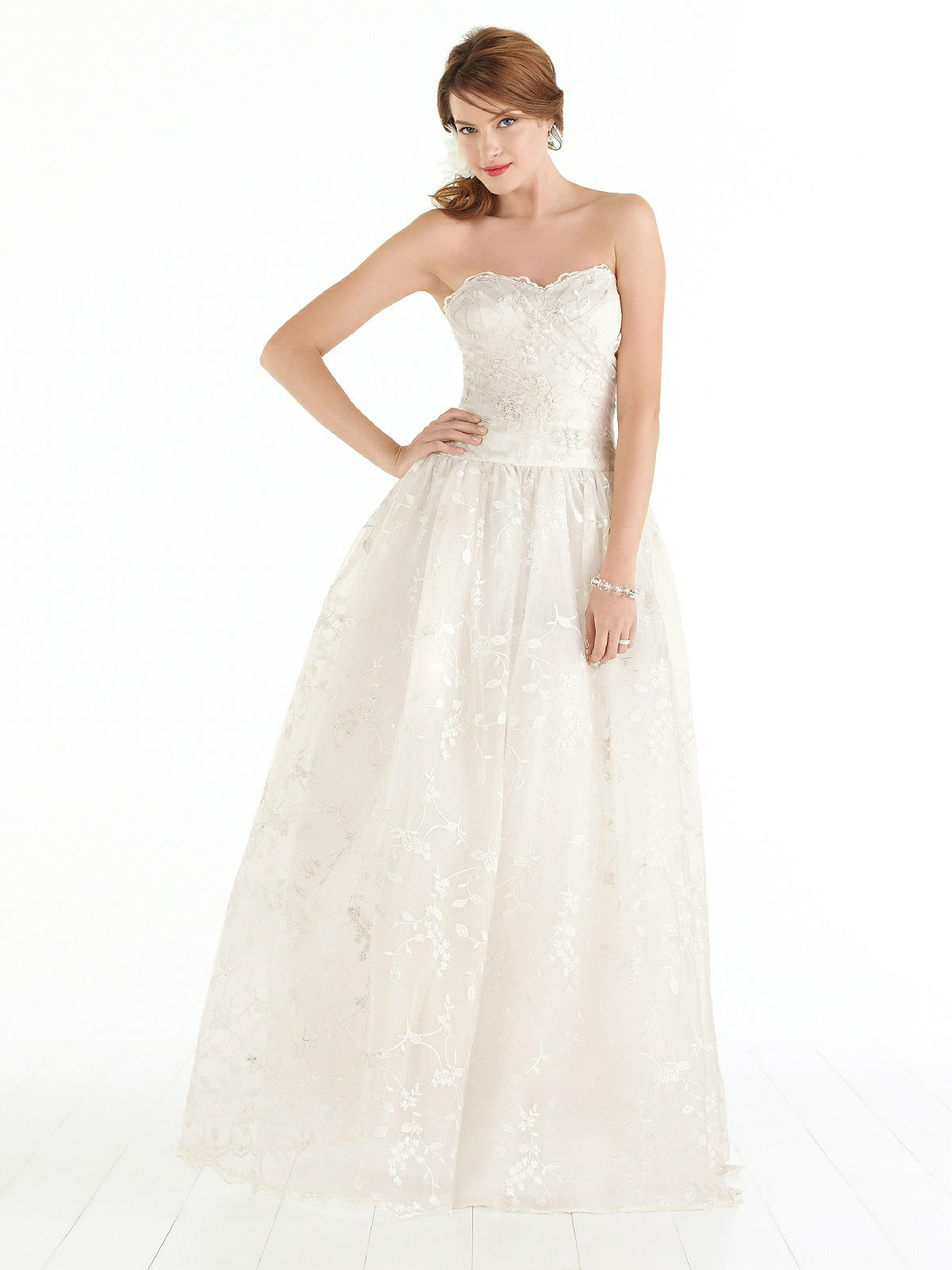 After six wedding dress style 1040 the dessy group for Bride dress after wedding