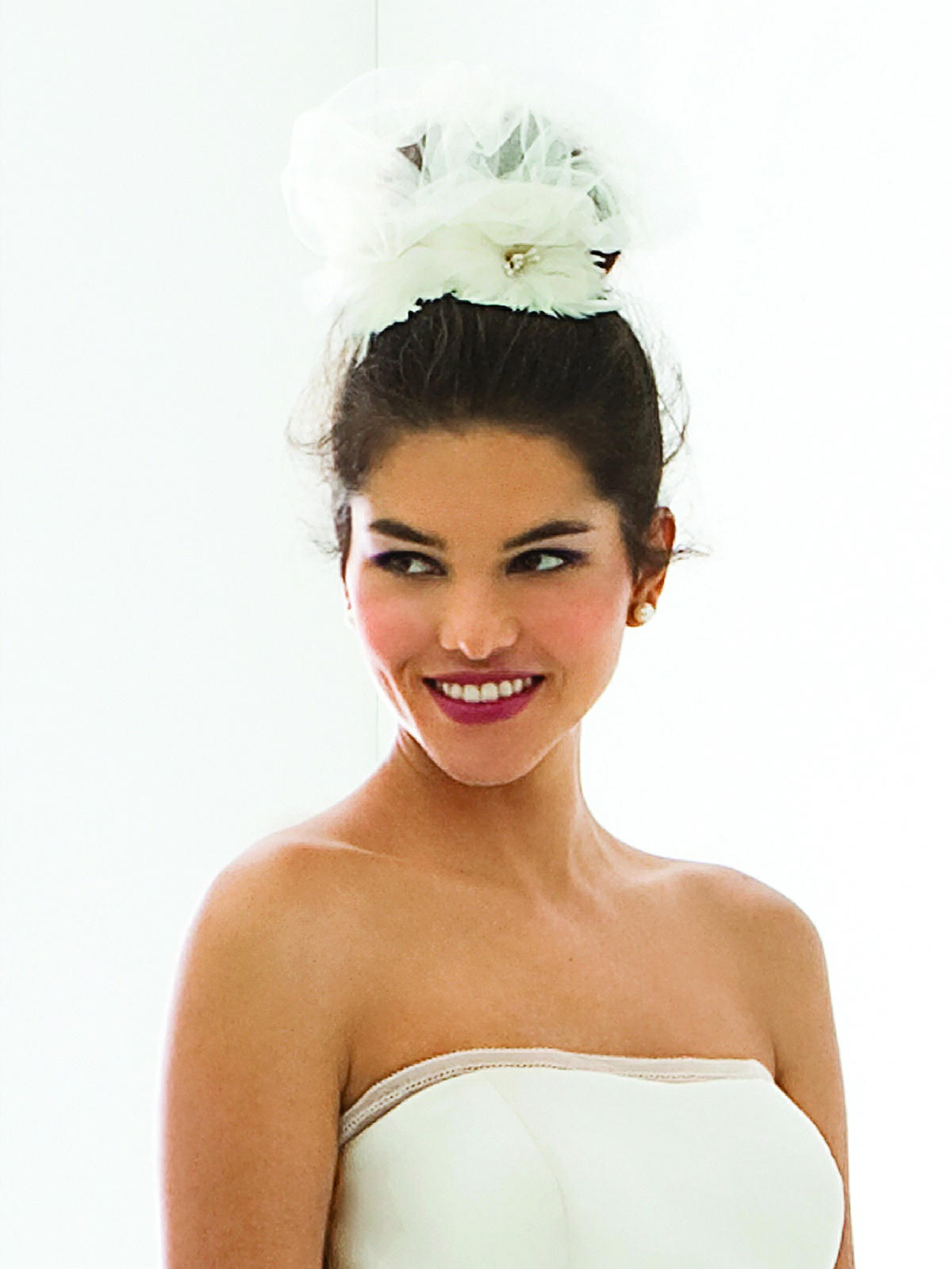 tulle wedding headpiece