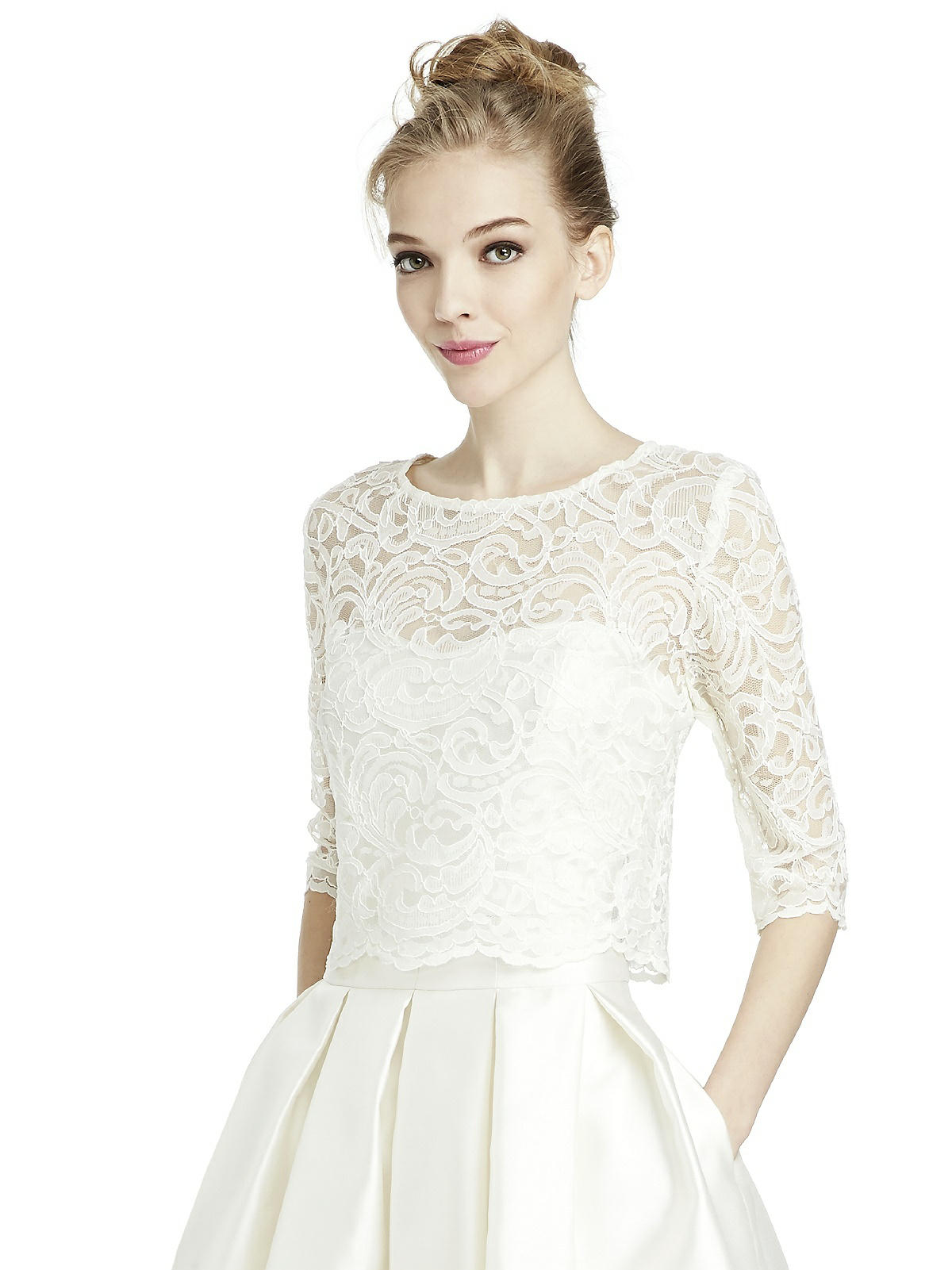 lace top for bridal gown