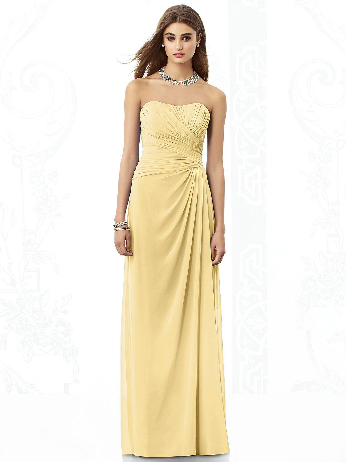 Love pastels how about a lemon yellow wedding theme lemon yellow strapless bridesmaid dress ombrellifo Gallery