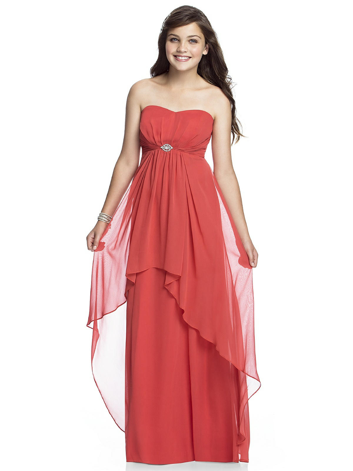 10 bridesmaids dresses for hot weather days red junior bridesmaid dress in chiffon ombrellifo Image collections