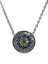 CZ Evil Eye Pendant Necklace