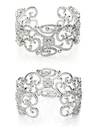 CZ Estate Scroll Cuff Bracelet http://www.dessy.com/accessories/cz-estate-scroll-cuff-bracelet/