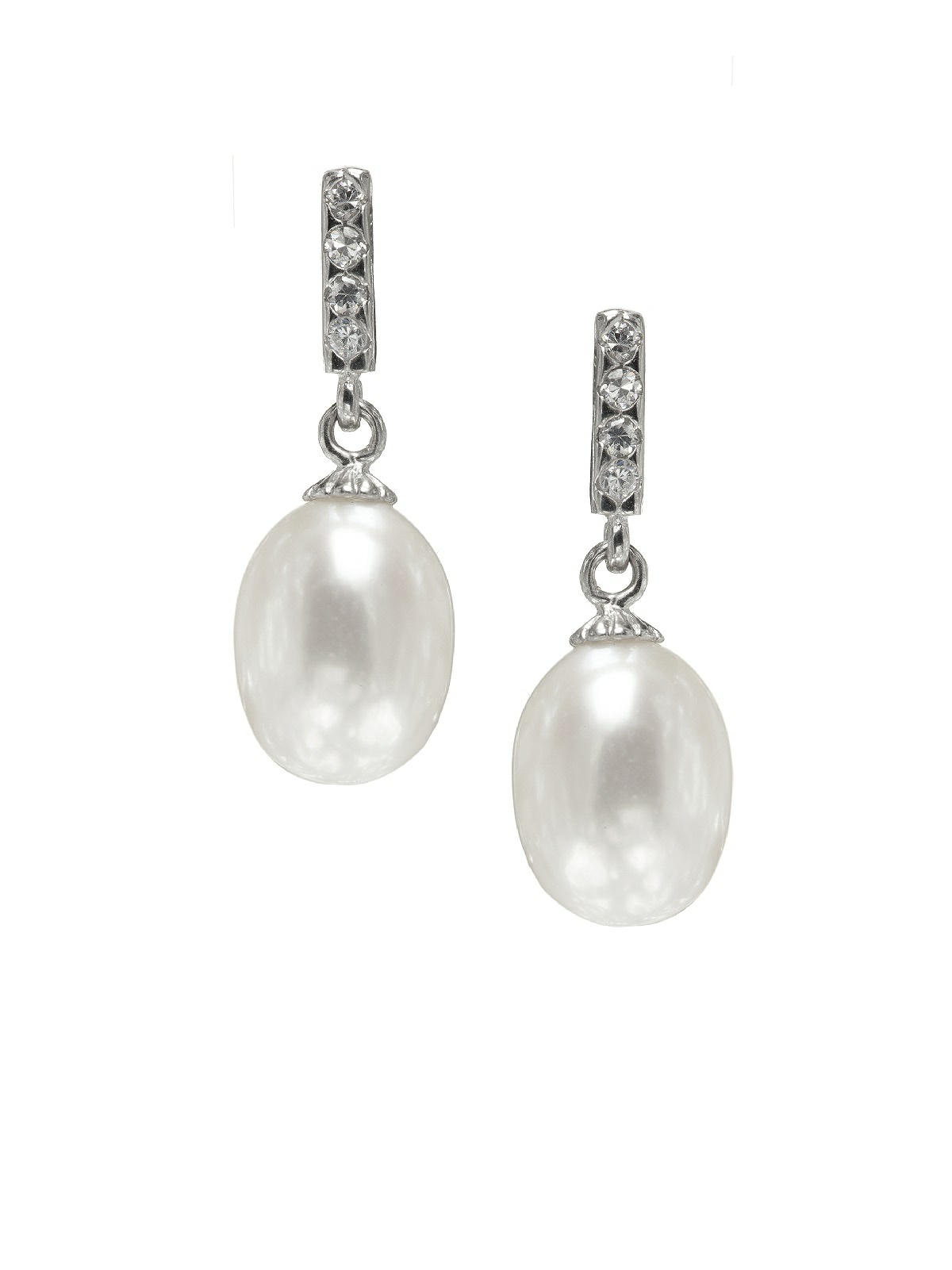 Pearl Deco Drop Earrings: The Dessy Group