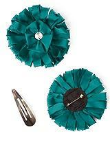Peau de Soie Confetti Flower with Rhinestone Detail