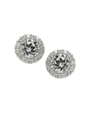 Classic Solitaire Earrings with Bezel Detail http://www.dessy.com/accessories/solitaire-bezel-earrings/