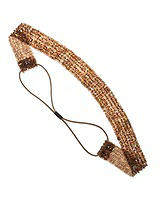 Bronze Sequin Stretch Headband