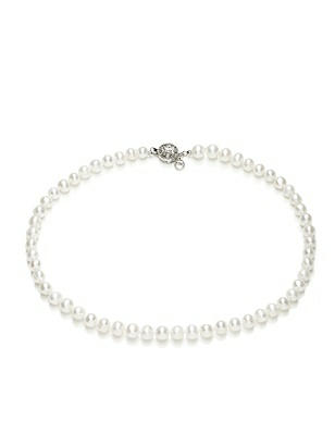 Freshwater Pearl Necklace - 16 inch http://www.dessy.com/accessories/16-inch-pearl-necklace/