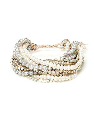 Multi-Strand Pearl and Metallic Bracelet http://www.dessy.com/accessories/multi-strand-pearl-and-metallic-bracelet/