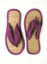 Iridescent Taffeta Flip Flops