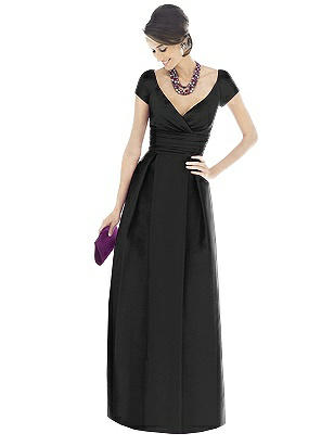 1940s Formal Dresses, Evening Gowns History Alfred Sung Bridesmaid Dress D503 $231.00 AT vintagedancer.com