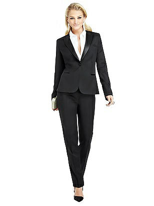 1920s Style Women's Pants, Trousers, Knickers, Tuxedo Womens Peak Collar Tuxedo Jacket - Marlowe by After Six $303.00 AT vintagedancer.com