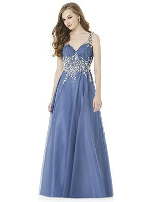 1940s Evening, Prom, Party, Formal, Ball Gowns After Six Prom Dress Maryanne Larkspur Blue $234.00 AT vintagedancer.com