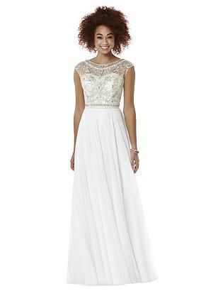 60s Wedding Dresses   70s Wedding Dresses After Six Prom Dress Portia Ivory $299.00 AT vintagedancer.com