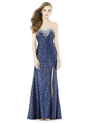 1930s Evening Dresses | Old Hollywood Dress After Six Prom Dress Keira Midnight Blue $339.00 AT vintagedancer.com