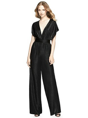 Vintage Bridesmaid Dress Ideas by Decade Special Order Soho Metallic Twist Jumpsuit $168.00 AT vintagedancer.com