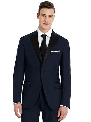 1950s Tuxedos and Men's Wedding Suits Hardwick Navy Modern Fit Tuxedo Jacket $299.00 AT vintagedancer.com