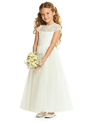 Kids 1950s Clothing & Costumes: Girls, Boys, Toddlers Special Order Flower Girl Dress FL4063 $221.00 AT vintagedancer.com