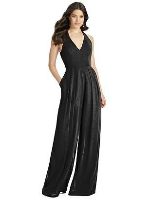 Vintage Bridesmaid Dresses, Mothers Dresses Special Order Dessy Shimmer Bridesmaid Jumpsuit Arielle LS $290.00 AT vintagedancer.com