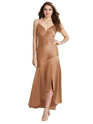 1930s Evening Dresses | Old Hollywood Silver Screen Dresses Special Order Asymmetrical Drop Waist High-Low Slip Dress - Devon $187.00 AT vintagedancer.com