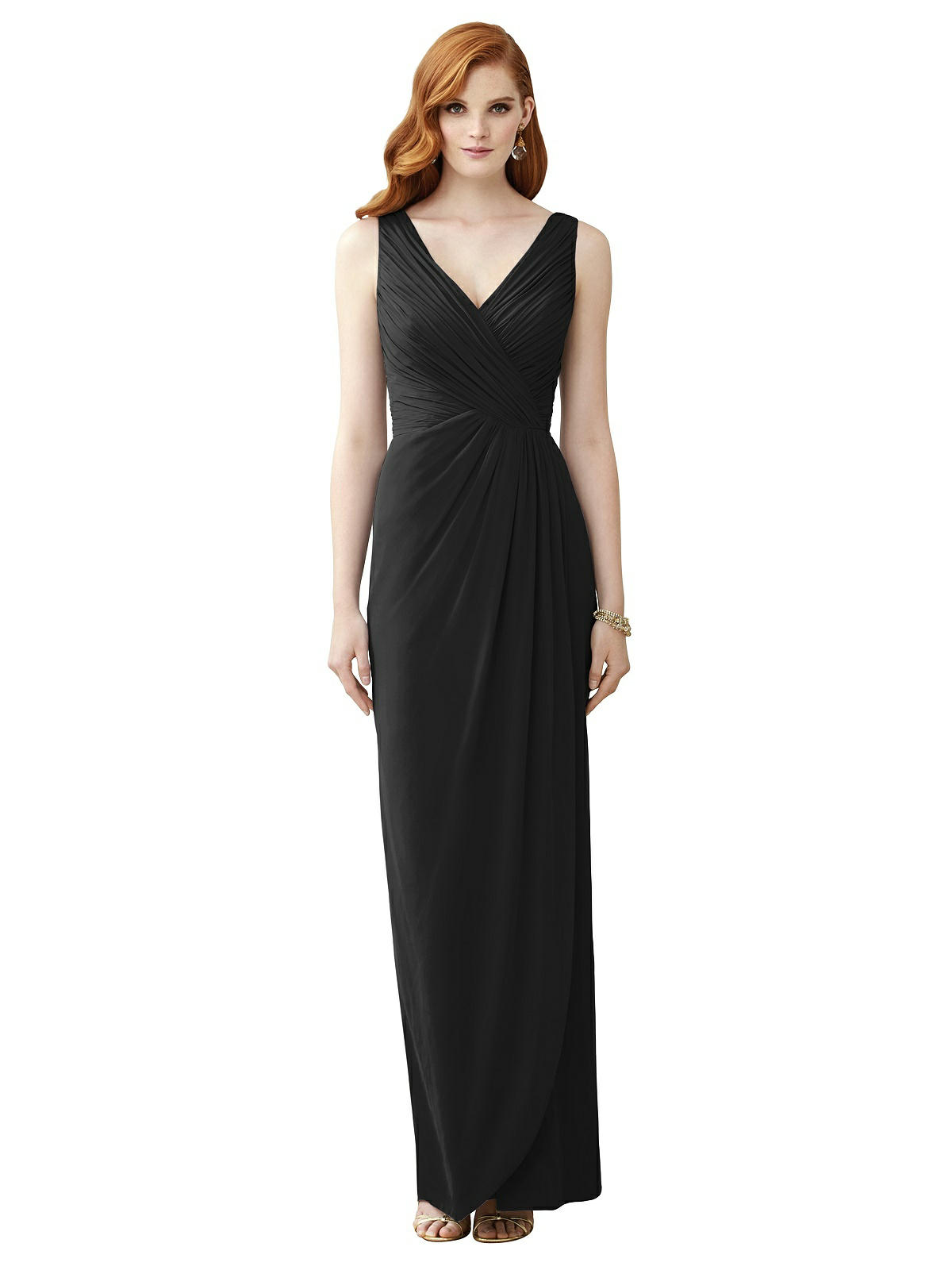 10+ Websites with 1940s Dresses for Sale Special Order Sleeveless Draped Faux Wrap Maxi Dress - Dahlia $149.00 AT vintagedancer.com